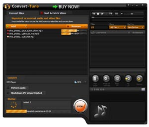 convert any audio files in batch mode on high speed