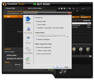Convert-Tune: easy to install, use and configure